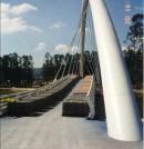 Prueba de carga estática de la pasarela sobre el río Lérez (Pontevedra)