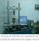 Prensa de 100 KN con regulación de velocidad de aplicación de carga y recorrido