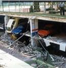 Hundimiento de varios forjados en un aparcamiento