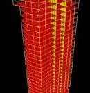 Modelización realizada para el análisis estructural de un edificio