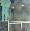 Refuerzo de pilares de hormigón armado en un edificio