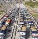 Prueba de carga de recepción de puente atirantado sobre el Guadalquivir en Córdoba