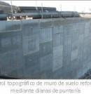 Control topográfico de muro de suelo reforzado mediante dianas de puntería