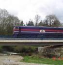 Pruebas de carga de recepción de puentes de ferrocarril