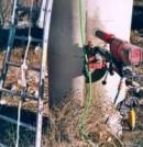 Extracción de una probeta testigo de una pila de un puente